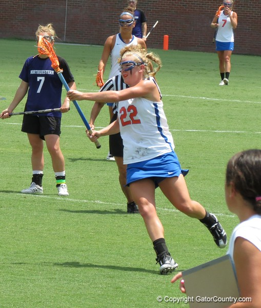 UF junior Brittany Dashiell during the Florida Gators' 14-7 win against the Northwestern Wildcats in the ALC Championship on Saturday, May 5, 2012, at Donald R. Dizney Stadium in Gainesville, Fla. / Gator Country photo by MIke Capshaw
