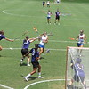 Kitty Cullen (4) looks to score a goal during the Florida Gators' 14-7 win against the Northwestern Wildcats in the ALC Championship on Saturday, May 5, 2012, at Donald R. Dizney Stadium in Gainesville, Fla. / Gator Country photo by MIke Capshaw