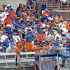 Fans dispute a call during the Florida Gators' 14-7 win against the Northwestern Wildcats in the ALC Championship on Saturday, May 5, 2012, at Donald R. Dizney Stadium in Gainesville, Fla. / Gator Country photo by MIke Capshaw