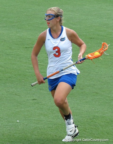 UF lone senior Caroline Chesterman during the Florida Gators' 14-7 win against the Northwestern Wildcats in the ALC Championship on Saturday, May 5, 2012, at Donald R. Dizney Stadium in Gainesville, Fla. / Gator Country photo by MIke Capshaw