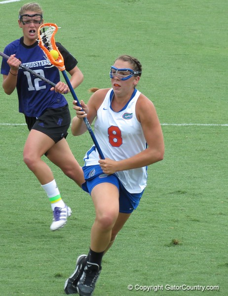 Shannon Gilroy during the Florida Gators' 14-7 win against the Northwestern Wildcats in the ALC Championship on Saturday, May 5, 2012, at Donald R. Dizney Stadium in Gainesville, Fla. / Gator Country photo by MIke Capshaw