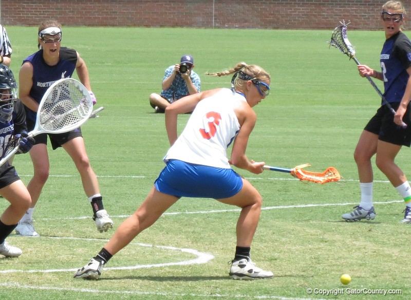 Caroline Chesterman during the Florida Gators' 14-7 win against the Northwestern Wildcats in the ALC Championship on Saturday, May 5, 2012, at Donald R. Dizney Stadium in Gainesville, Fla. / Gator Country photo by MIke Capshaw