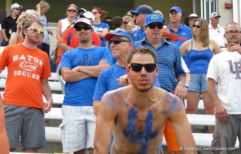 The crowd after the Florida Gators defeated Northwestern 14-7 to win the ALC Championship on Saturday, May 5, 2012, at Donald R. Dizney Stadium in Gainesville, Fla. / Gator Country photo by MIke Capshaw