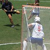 UF goalkeeper Mikey Meagher stops a shot on goal during the Florida Gators' 14-7 win against the Northwestern Wildcats in the ALC Championship on Saturday, May 5, 2012, at Donald R. Dizney Stadium in Gainesville, Fla. / Gator Country photo by MIke Capshaw
