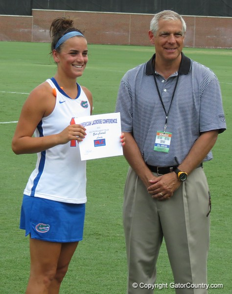 Sam Farrell was named All-ALC Tournament team after the Florida Gators defeated Northwestern 14-7 to win the ALC Championship on Saturday, May 5, 2012, at Donald R. Dizney Stadium in Gainesville, Fla. / Gator Country photo by MIke Capshaw