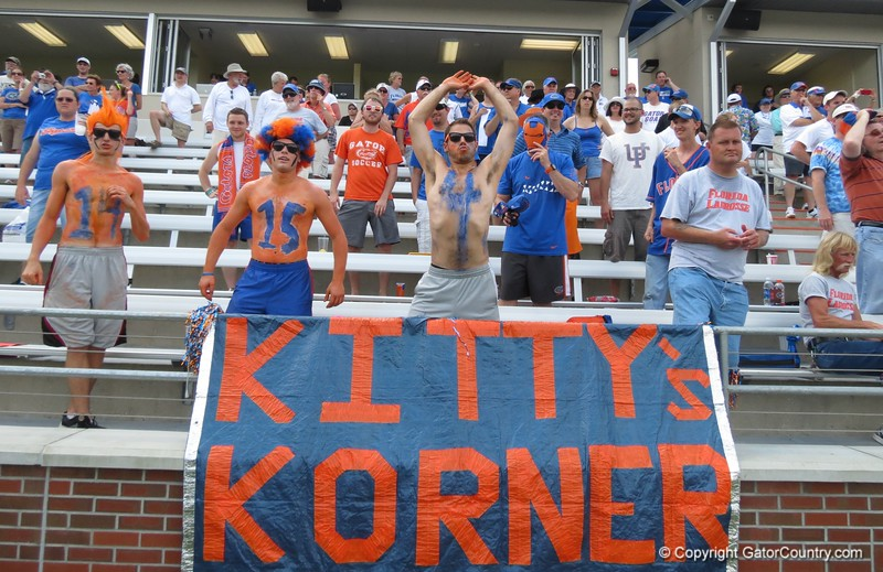 Fans after the Florida Gators defeated Northwestern 14-7 to win the ALC Championship on Saturday, May 5, 2012, at Donald R. Dizney Stadium in Gainesville, Fla. / Gator Country photo by MIke Capshaw