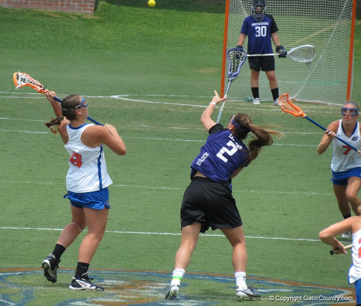 Shannon Gilroy vies for the draw during the Florida Gators' 14-7 win against the Northwestern Wildcats in the ALC Championship on Saturday, May 5, 2012, at Donald R. Dizney Stadium in Gainesville, Fla. / Gator Country photo by MIke Capshaw