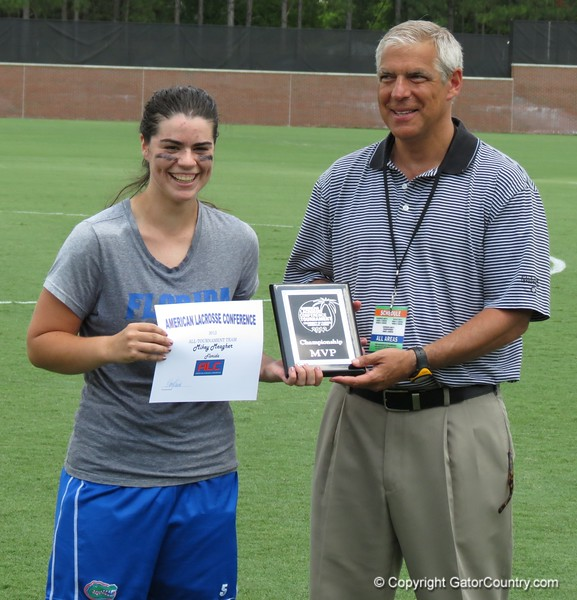 UF goalkeeper Mikey Meagher was named Most Valuable Player after the Florida Gators defeated Northwestern 14-7 to win the ALC Championship on Saturday, May 5, 2012, at Donald R. Dizney Stadium in Gainesville, Fla. / Gator Country photo by MIke Capshaw