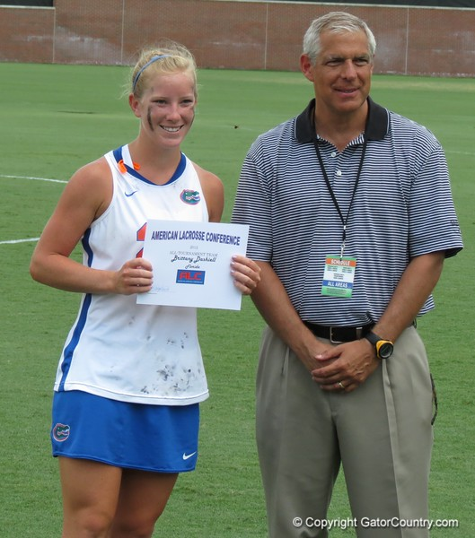 Brittany Daishell was named All-ALC Tournament team after the Florida Gators defeated Northwestern 14-7 to win the ALC Championship on Saturday, May 5, 2012, at Donald R. Dizney Stadium in Gainesville, Fla. / Gator Country photo by MIke Capshaw