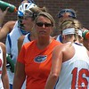 UF coach Amanda O'Leary during the Florida Gators' 14-7 win against the Northwestern Wildcats in the ALC Championship on Saturday, May 5, 2012, at Donald R. Dizney Stadium in Gainesville, Fla. / Gator Country photo by MIke Capshaw