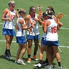 Players celebrate after a goal during the Florida Gators' 14-7 win against the Northwestern Wildcats in the ALC Championship on Saturday, May 5, 2012, at Donald R. Dizney Stadium in Gainesville, Fla. / Gator Country photo by MIke Capshaw