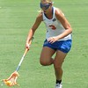 Caroline Chesterman scoops up a ground ball during the Florida Gators' 14-7 win against the Northwestern Wildcats in the ALC Championship on Saturday, May 5, 2012, at Donald R. Dizney Stadium in Gainesville, Fla. / Gator Country photo by MIke Capshaw