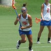 Sam Farrell (15) on the attack as Emily Dohony looks on (2) during the Florida Gators' 14-7 win against the Northwestern Wildcats in the ALC Championship on Saturday, May 5, 2012, at Donald R. Dizney Stadium in Gainesville, Fla. / Gator Country photo by MIke Capshaw