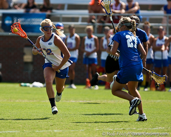 Florida sophomore midfielder Brittany Dashiell runs with the ball during the Gator's 9-13 loss against No. 5 Seed Duke in the NCAA Championship Quarterfinals on Saturday, May 21, 2011 at Donald R Dizney Lacrosse Stadium in Gainesville, Fla. / photo by Rob Foldy