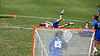 Florida sophomore Kitty Cullen gets leveled by a Blue Devils player during the Gator's 9-13 loss against No. 5 Seed Duke in the NCAA Championship Quarterfinals on Saturday, May 21, 2011 at Donald R Dizney Lacrosse Stadium in Gainesville, Fla. / photo by Rob Foldy