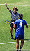 The Blue Devils receive a yellow card during the Gator's 9-13 loss against No. 5 Seed Duke in the NCAA Championship Quarterfinals on Saturday, May 21, 2011 at Donald R Dizney Lacrosse Stadium in Gainesville, Fla. / photo by Rob Foldy
