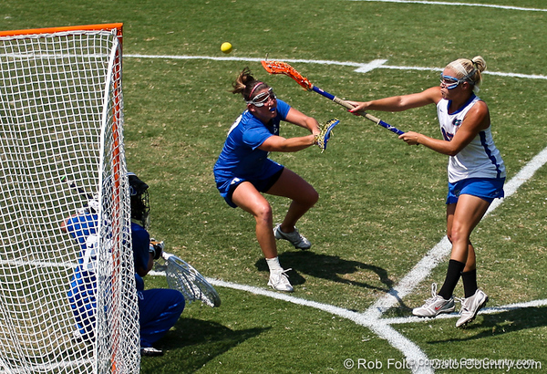 Florida sophomore attacker Ashley Bruns fires a shot during the Gator's 9-13 loss against No. 5 Seed Duke in the NCAA Championship Quarterfinals on Saturday, May 21, 2011 at Donald R Dizney Lacrosse Stadium in Gainesville, Fla. / photo by Rob Foldy