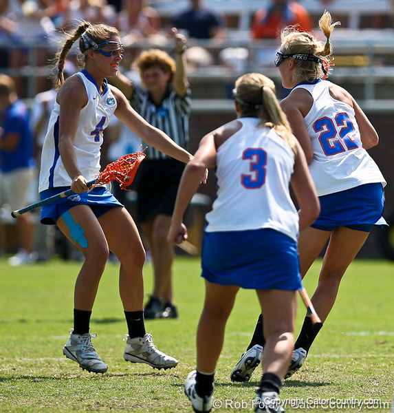 Florida player celebrate during the Gator's 9-13 loss against No. 5 Seed Duke in the NCAA Championship Quarterfinals on Saturday, May 21, 2011 at Donald R Dizney Lacrosse Stadium in Gainesville, Fla. / photo by Rob Foldy