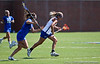 Florida sophomore attacker Caroline Chesterman runs with the ball during the Gator's 9-13 loss against No. 5 Seed Duke in the NCAA Championship Quarterfinals on Saturday, May 21, 2011 at Donald R Dizney Lacrosse Stadium in Gainesville, Fla. / photo by Rob Foldy