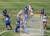 Florida sophomore Kitty Cullen's shot bounces off the crossbar during the Gator's 9-13 loss against No. 5 Seed Duke in the NCAA Championship Quarterfinals on Saturday, May 21, 2011 at Donald R Dizney Lacrosse Stadium in Gainesville, Fla. / photo by Rob Foldy