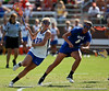 Florida sophomore midfielder Brittany Dashiell runs towards the goal during the Gator's 9-13 loss against No. 5 Seed Duke in the NCAA Championship Quarterfinals on Saturday, May 21, 2011 at Donald R Dizney Lacrosse Stadium in Gainesville, Fla. / photo by Rob Foldy