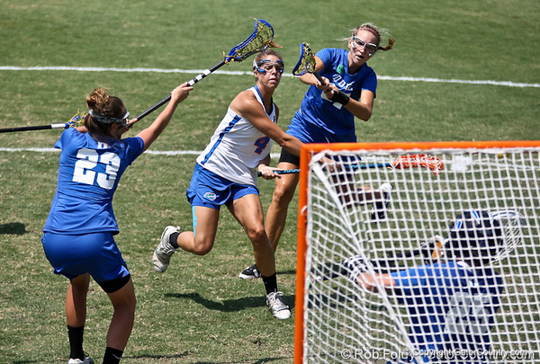 Florida sophomore Kitty Cullen shoots the ball during the Gator's 9-13 loss against No. 5 Seed Duke in the NCAA Championship Quarterfinals on Saturday, May 21, 2011 at Donald R Dizney Lacrosse Stadium in Gainesville, Fla. / photo by Rob Foldy