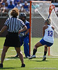 Florida sophomore attacker Ashley Bruns locks eyes with the Blue Devil's goalkeeper during the Gator's 9-13 loss against No. 5 Seed Duke in the NCAA Championship Quarterfinals on Saturday, May 21, 2011 at Donald R Dizney Lacrosse Stadium in Gainesville, Fla. / photo by Rob Foldy