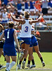 Florida sophomore attacker Caroline Chesterman celebrates with her teammates during the Gator's 9-13 loss against No. 5 Seed Duke in the NCAA Championship Quarterfinals on Saturday, May 21, 2011 at Donald R Dizney Lacrosse Stadium in Gainesville, Fla. / photo by Rob Foldy