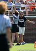 Florida head coach Amanda O'Leary disputes a call during the Gator's 9-13 loss against No. 5 Seed Duke in the NCAA Championship Quarterfinals on Saturday, May 21, 2011 at Donald R Dizney Lacrosse Stadium in Gainesville, Fla. / photo by Rob Foldy