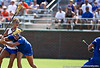 Florida sophomore midfielder Janine Hillier watching the ball during the Gator's 9-13 loss against No. 5 Seed Duke in the NCAA Championship Quarterfinals on Saturday, May 21, 2011 at Donald R Dizney Lacrosse Stadium in Gainesville, Fla. / photo by Rob Foldy