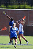 Florida junior attacker Caroline Cochran fights for draw control during the Gator's 9-13 loss against No. 5 Seed Duke in the NCAA Championship Quarterfinals on Saturday, May 21, 2011 at Donald R Dizney Lacrosse Stadium in Gainesville, Fla. / photo by Rob Foldy