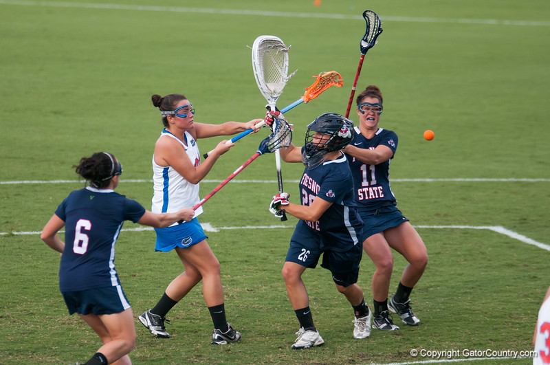 Florida freshman Taylor McCord  scores during the Gators' 29-0 win against the Fresno State Bulldogs on Wednesday, March 28, 2012 at the Donald R. Dizney Stadium in Gainesville, Fla. / Gator Country photo by Saj Guevara