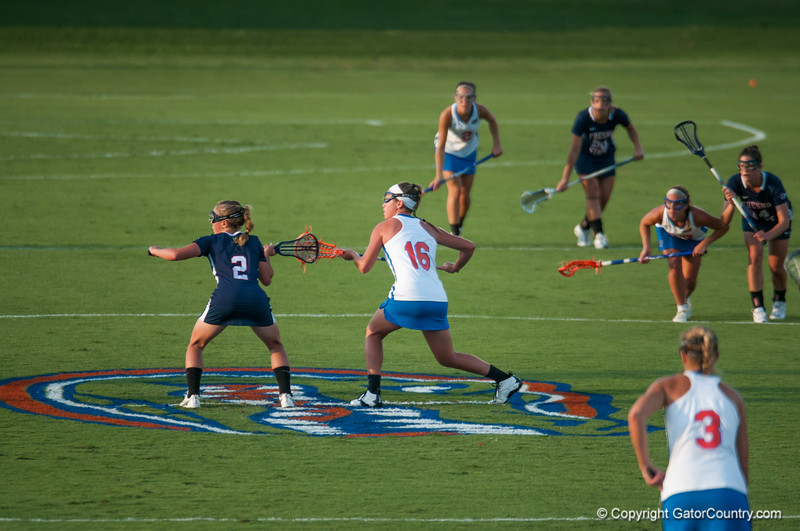Florida freshman Nicole Graziano at draw during the Gators' 29-0 win against the Fresno State Bulldogs on Wednesday, March 28, 2012 at the Donald R. Dizney Stadium in Gainesville, Fla. / Gator Country photo by Saj Guevara