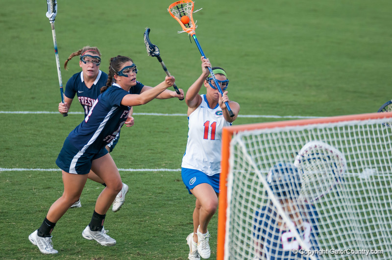 Florida red shirt sophomore Erin Graziano scores during the Gators' 29-0 win against the Fresno State Bulldogs on Wednesday, March 28, 2012 at the Donald R. Dizney Stadium in Gainesville, Fla. / Gator Country photo by Saj Guevara