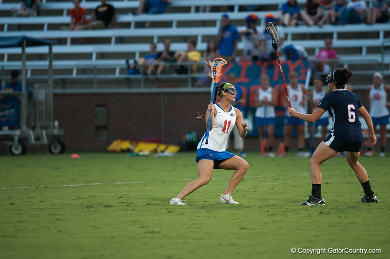 Florida red shirt sophomore Erin Graziano on offense during the Gators' 29-0 win against the Fresno State Bulldogs on Wednesday, March 28, 2012 at the Donald R. Dizney Stadium in Gainesville, Fla. / Gator Country photo by Saj Guevara