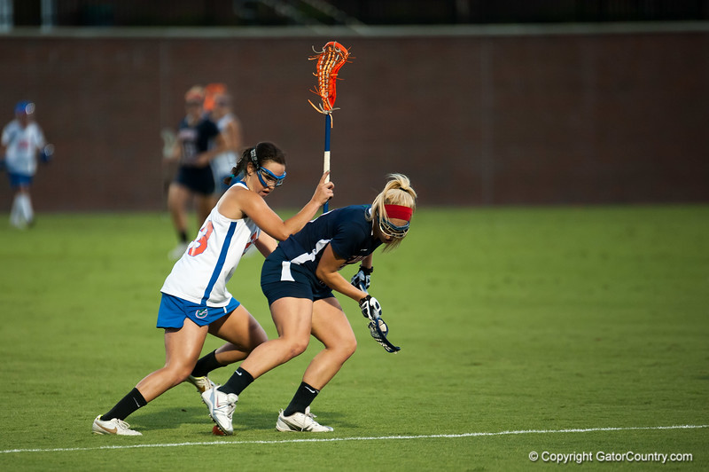 Florida freshman Sally Jentis   fights for the ball during the Gators' 29-0 win against the Fresno State Bulldogs on Wednesday, March 28, 2012 at the Donald R. Dizney Stadium in Gainesville, Fla. / Gator Country photo by Saj Guevara