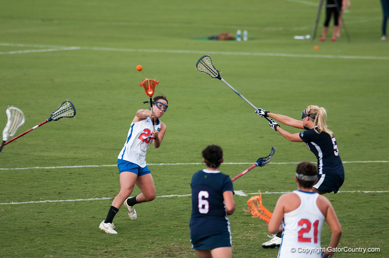 Florida freshman Sally Jentis passes the ball    during the Gators' 29-0 win against the Fresno State Bulldogs on Wednesday, March 28, 2012 at the Donald R. Dizney Stadium in Gainesville, Fla. / Gator Country photo by Saj Guevara