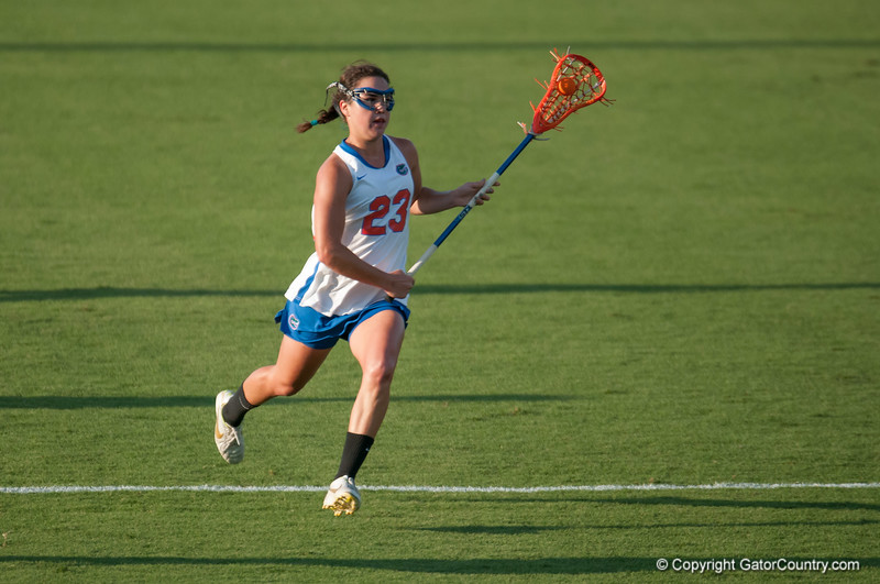 Florida freshman Sally Jentis   on offense during the Gators' 29-0 win against the Fresno State Bulldogs on Wednesday, March 28, 2012 at the Donald R. Dizney Stadium in Gainesville, Fla. / Gator Country photo by Saj Guevara