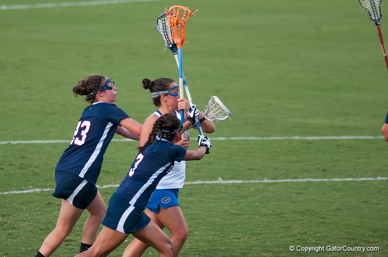 Florida freshman Taylor McCord  on the attack during the Gators' 29-0 win against the Fresno State Bulldogs on Wednesday, March 28, 2012 at the Donald R. Dizney Stadium in Gainesville, Fla. / Gator Country photo by Saj Guevara