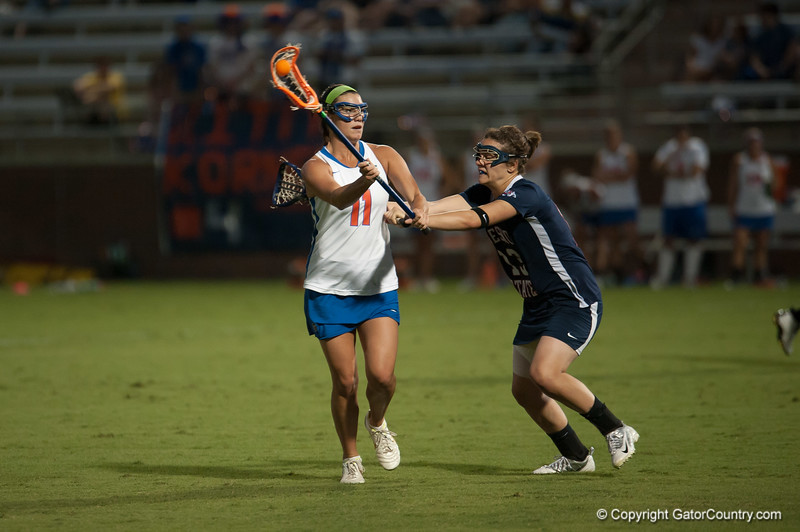 Florida red shirt sophomore Erin Graziano passes the ball during the Gators' 29-0 win against the Fresno State Bulldogs on Wednesday, March 28, 2012 at the Donald R. Dizney Stadium in Gainesville, Fla. / Gator Country photo by Saj Guevara