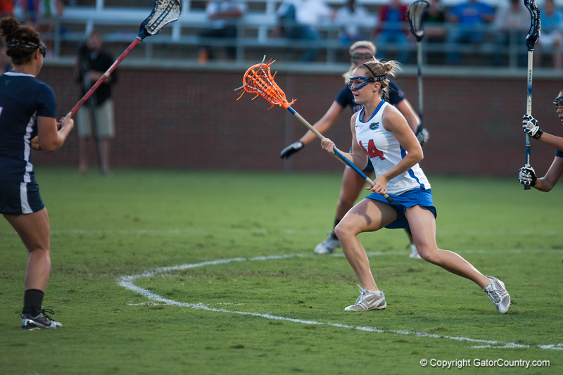 Florida freshman Nora Barry on offense  during the Gators' 29-0 win against the Fresno State Bulldogs on Wednesday, March 28, 2012 at the Donald R. Dizney Stadium in Gainesville, Fla. / Gator Country photo by Saj Guevara