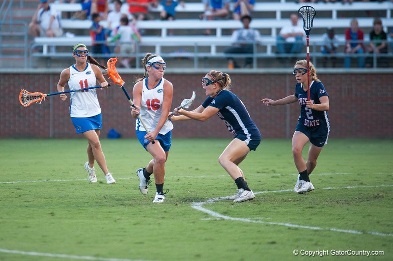 Florida freshman Nicole Graziano on the offense during the Gators' 29-0 win against the Fresno State Bulldogs on Wednesday, March 28, 2012 at the Donald R. Dizney Stadium in Gainesville, Fla. / Gator Country photo by Saj Guevara