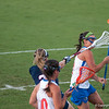 Florida red shirt sophomore Erin Graziano is hit with the stick during the Gators' 29-0 win against the Fresno State Bulldogs on Wednesday, March 28, 2012 at the Donald R. Dizney Stadium in Gainesville, Fla. / Gator Country photo by Saj Guevara