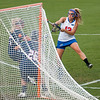 Florida junior Ashley Bruns  scores her 2nd of 3 goals during the Gators' 29-0 win against the Fresno State Bulldogs on Wednesday, March 28, 2012 at the Donald R. Dizney Stadium in Gainesville, Fla. / Gator Country photo by Saj Guevara
