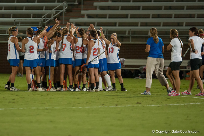 Florida Lacrosse team during the Gators' 29-0 win against the Fresno State Bulldogs on Wednesday, March 28, 2012 at the Donald R. Dizney Stadium in Gainesville, Fla. / Gator Country photo by Saj Guevara