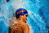 (Casey Brooke Lawson / Gator Country) A UF swimmer competes during University of Florida's swim meet against Virginia in Gainesville, Fla., on January 7, 2009.