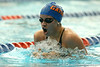 photo by Tim Casey<br /> <br />  competes in the 200 yard breaststroke during the Gators' final home swimming and diving meet of the season on Saturday, January 31, 2009 at the Stephen C. O'Connell Center in Gainesville, Fla.