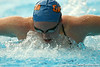 photo by Tim Casey<br /> <br /> Florida's Natalie Smith competes in the 200 yard butterfly during the Gators' final home swimming and diving meet of the season on Saturday, January 31, 2009 at the Stephen C. O'Connell Center in Gainesville, Fla.