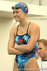 photo by Tim Casey<br /> <br /> stays warm before the 200 yard butterfly during the Gators' final home swimming and diving meet of the season on Saturday, January 31, 2009 at the Stephen C. O'Connell Center in Gainesville, Fla.