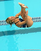 photo by Tim Casey<br /> <br /> Indian River State College's Nikki Priez competes in the 3 meter diving competition during the Gators' final home swimming and diving meet of the season on Saturday, January 31, 2009 at the Stephen C. O'Connell Center in Gainesville, Fla.